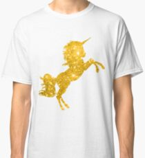 Golden Glitter Unicorn Classic T-Shirt