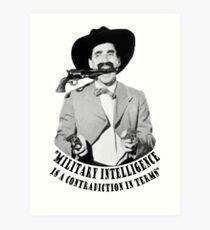 Lámina artística Groucho Marx Military Intelligence