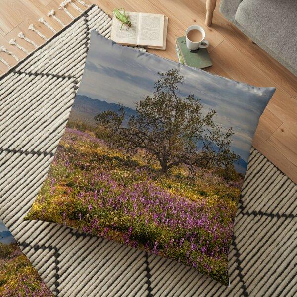 Joshua Tree National Park, New Life Floor Pillow