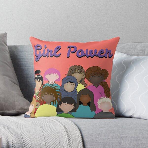 Girl Power   Celebrating Women Around the World Throw Pillow