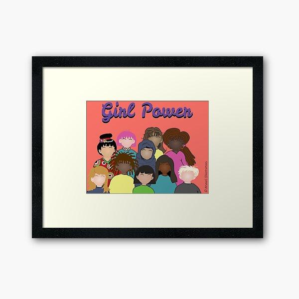 Girl Power | Celebrating Women Around the World Framed Art Print