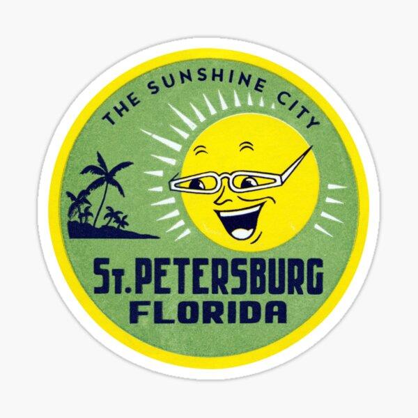 1955 Sunshine City, St. Petersburg Florida Sticker