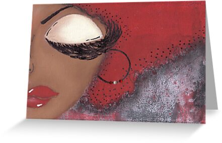Sassy Girl Crimson and Cream by Tiare Smith