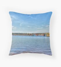 Railroad Trestle Throw Pillow