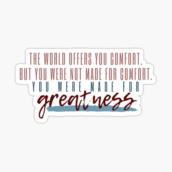The World Offers You Comfort  Sticker