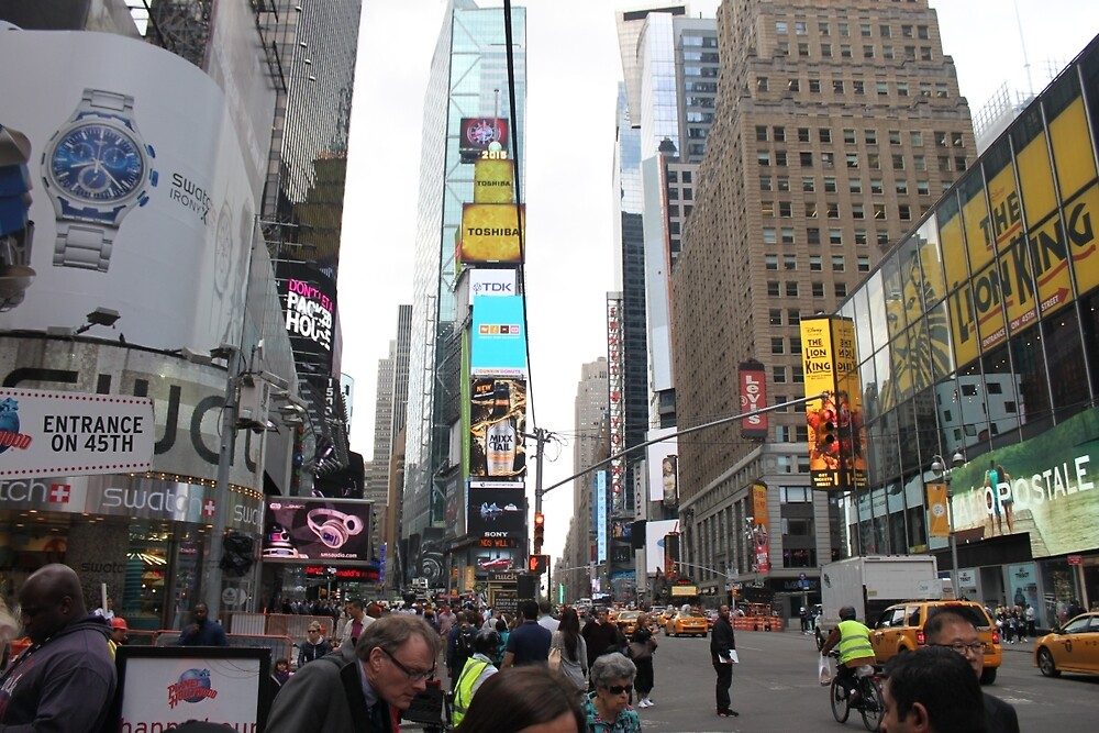 Times Square on a busy day by Allybally62