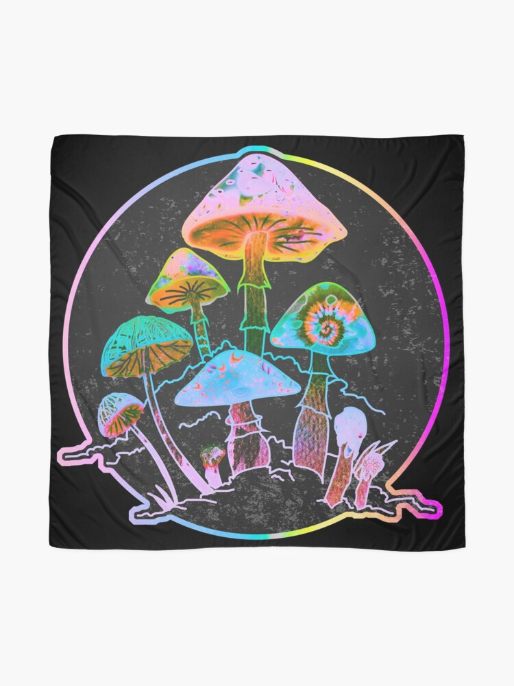 Alternate view of Garden of Shrooms 2020 Scarf
