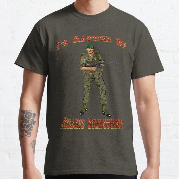 Prefiero estar matando a los comunistas, estilo Reagan Camiseta clásica