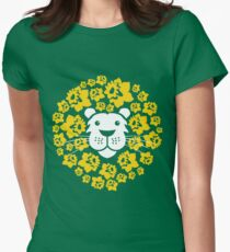 Flower Lion Womens Fitted T-Shirt