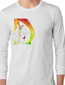 Unbalanced Long Sleeve T-Shirt