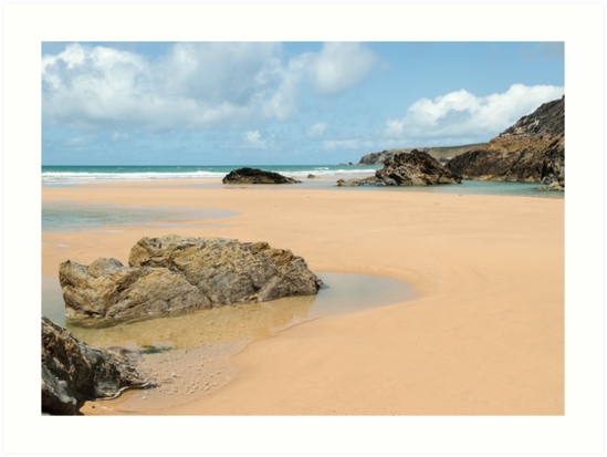 Bedruthan Beach,North Coast of Cornwall by Lucy Davey