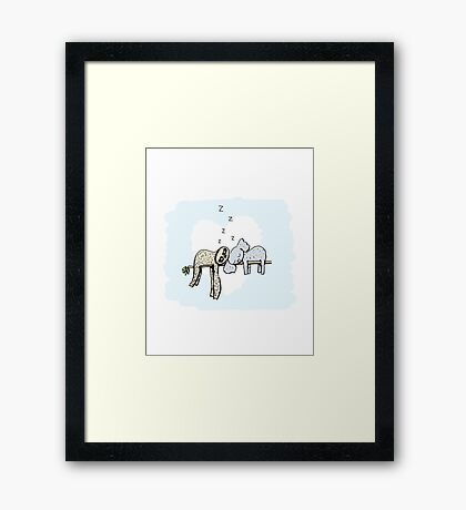 Koala and Sloth Sleeping Framed Print