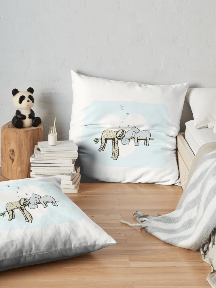 Alternate view of Koala and Sloth Sleeping Floor Pillow