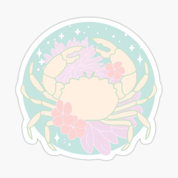 Cancer Zodiac Crab - PASTEL Sticker