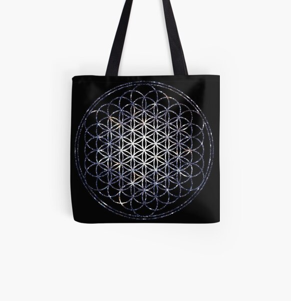 Flower Of Life - Sacred Geometry Star Cluster All Over Print Tote Bag