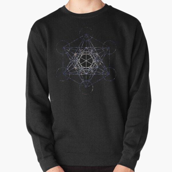 Metatron's Cube Star Cluster - Sacred Geometry Pullover Sweatshirt