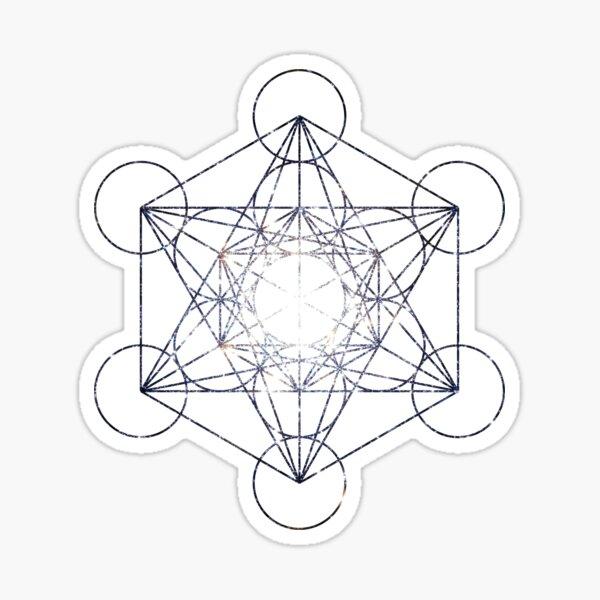 Metatron's Cube Star Cluster - Sacred Geometry Sticker