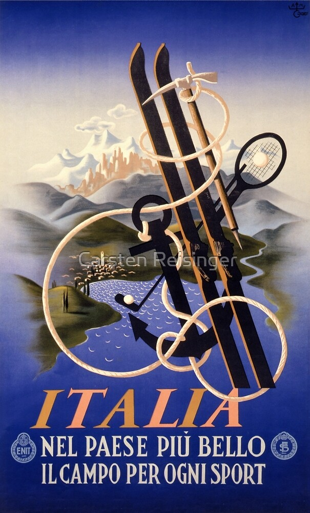 Italia Italy Vintage Travel Poster Restored by vintagetreasure