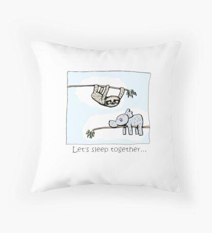 Koala and Sloth - Sleep Together Floor Pillow