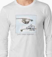Koala and Sloth - Sleep Together Long Sleeve T-Shirt