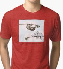 Koala and Sloth - Sleep Together Tri-blend T-Shirt