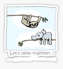 Koala and Sloth - Sleep Together Sticker