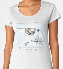 Koala and Sloth - Sleep Together Premium Scoop T-Shirt