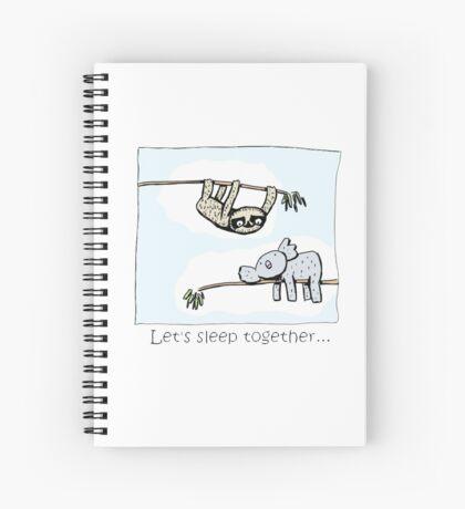 Koala and Sloth - Sleep Together Spiral Notebook