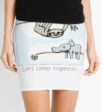 Koala and Sloth - Sleep Together Mini Skirt