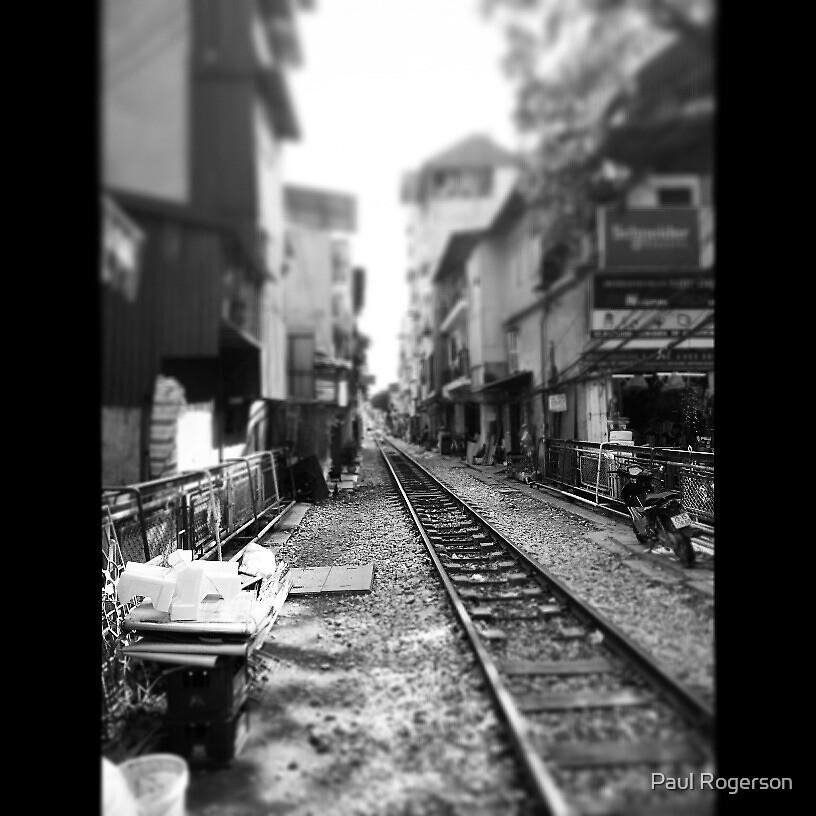 A train line in Hanoi. by Paul Rogerson