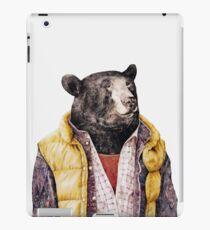 Goldener Schwarzer Bär iPad-Hülle & Klebefolie