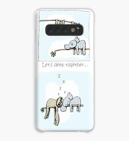 Koala and Sloth - Sleeping Together Cartoon Case/Skin for Samsung Galaxy