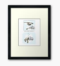 Koala and Sloth - Sleeping Together Cartoon Framed Print