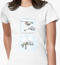 Koala and Sloth - Sleeping Together Cartoon Fitted T-Shirt