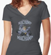 Machamp Workout Women's Fitted V-Neck T-Shirt