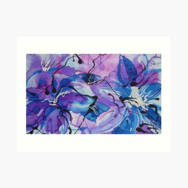 Floral Extravaganza on Silk Art Print