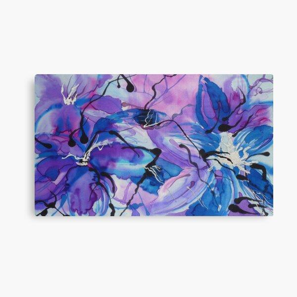 Floral Extravaganza on Silk Canvas Print