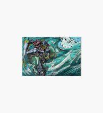Wave-Rider Knight  Art Board Print