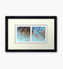 Autumn Impressions - Diptych #1 Framed Print