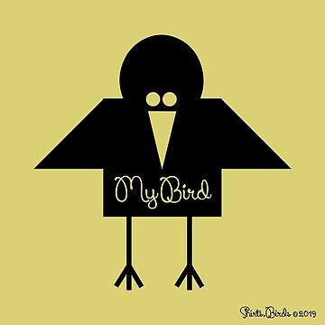 My Bird Gold | Original Cool T-shirt by artbaggage