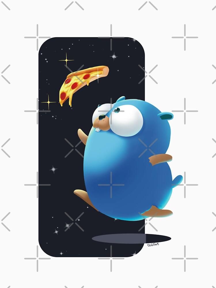 Golang Gopher Go Pizza de clgtart