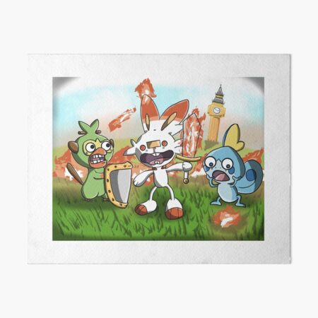 Scorchedbunny and Friends - Sword and Shield Art Board Print