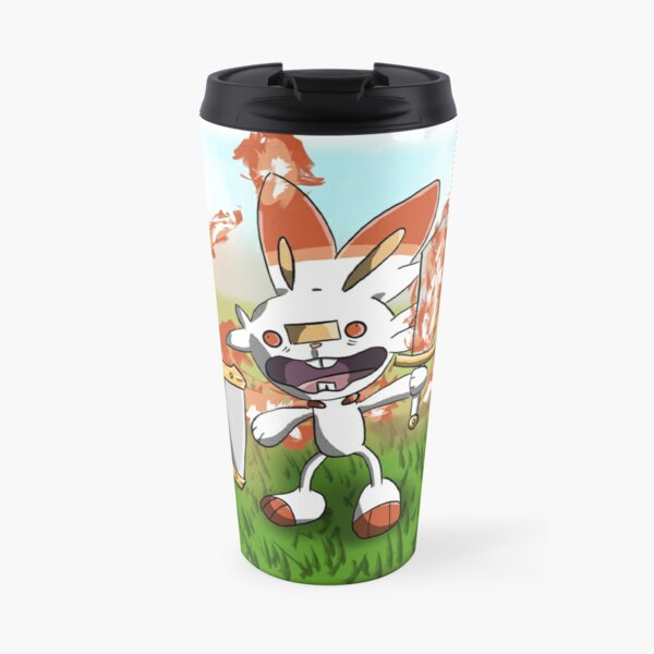 Scorchedbunny and Friends - Sword and Shield Travel Mug