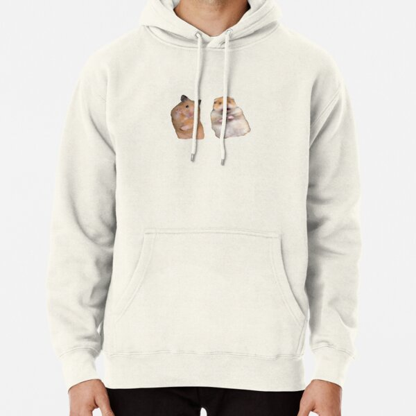 Peace Sign and Screaming Hamster Pullover Hoodie