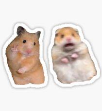 Friedenszeichen und schreiender Hamster Sticker