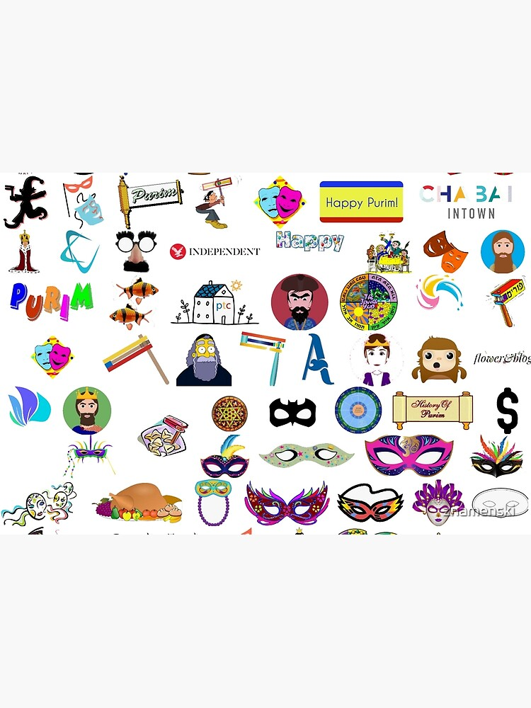 #Purim #Jewish #holiday clip art, collection, illustration, vector, symbol, sketch, cute, design, merchandise, industry, group of objects, arranging, no people, variation, square, arrangement by znamenski