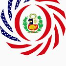 Peruvian American Multinational Patriot Flag Series by Carbon-Fibre Media
