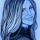Jennifer Aniston celebrity portrait by Margaret Sanderson