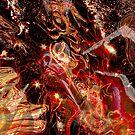 swirling fire universe by BBS ART