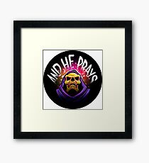 """And he prays"" - Skeletor print version Framed Print"